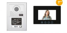 Interphone vidéo MODERN avec lecteur de badge RFID
