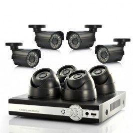 Kit vidéo-surveillance 8 caméras (4 intérieur et 4 extérieur) + enregistreur DVR