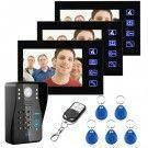 Interphone vidéo MULTI 3 écrans (code, RFID, télécommande)