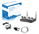 Kit vidéo-surveillance WIFI 4 caméras HD 1920x1080 - intérieur