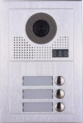 Platine de rue PL619-3 pour 3 appartements 2 fils gamme PL sans lecteur de badge RFID
