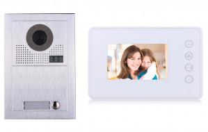 Portier interphone Modern 2 fils 1 appartement / 1 écran blanc