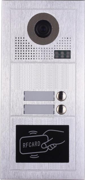 Platine de rue PL619-2D pour 2 appartements 2 fils gamme PL avec lecteur de badge RFID