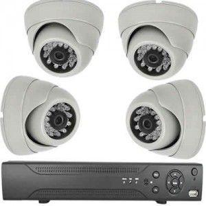 Kit vidéo-surveillance 4 caméras dômes AHD 720P + DVR haute définition