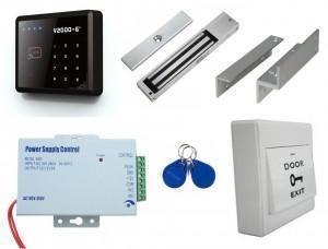 Kit de contrôle d'accès autonome code et badge - utilisation intérieure