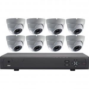 Kit vidéo-surveillance 8 caméras dômes AHD 720P + DVR haute définition