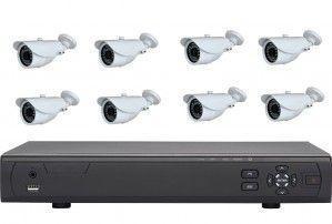 Kit vidéo-surveillance 8 caméras extérieur + enregistreur DVR