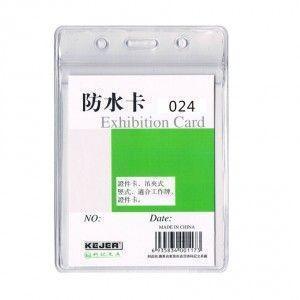 Porte carte souple PVC - vertical
