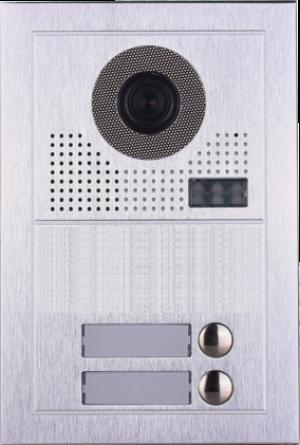 Platine de rue PL619-2 pour 2 appartements 2 fils gamme PL sans lecteur de badge RFID