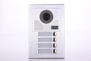 Platine de rue PL619-4 pour 4 appartements 2 fils gamme PL sans lecteur de badge RFID