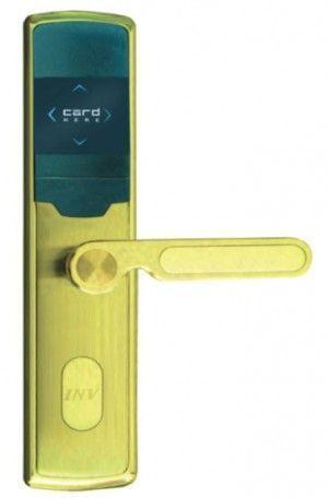 Serrure d'hotel RFID Zeno 2009B dorée droite BT Security.jpg