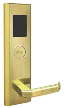 Serrure d'hotel RFID Zeno 871 dorée droite BT Security.jpg