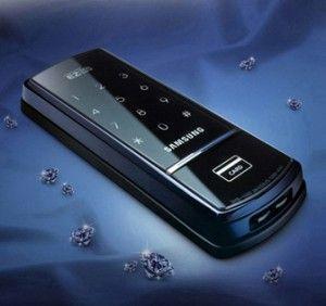 Verrou SHS-1320 à codes et badges RFID (badges de proximité) Samsung Ezon