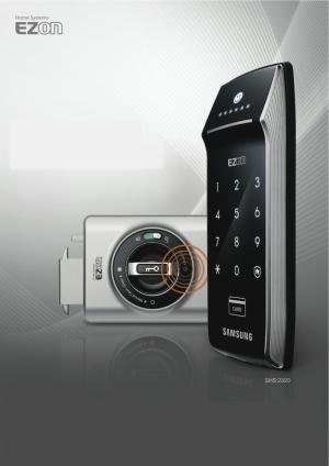 Verrou SHS-2320 Samsung Ezon à code et badge RFID (badge de proximité)