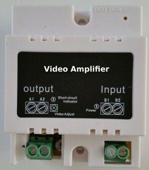 Amplificateur vidéo pour interphone multi appartements 2 fils