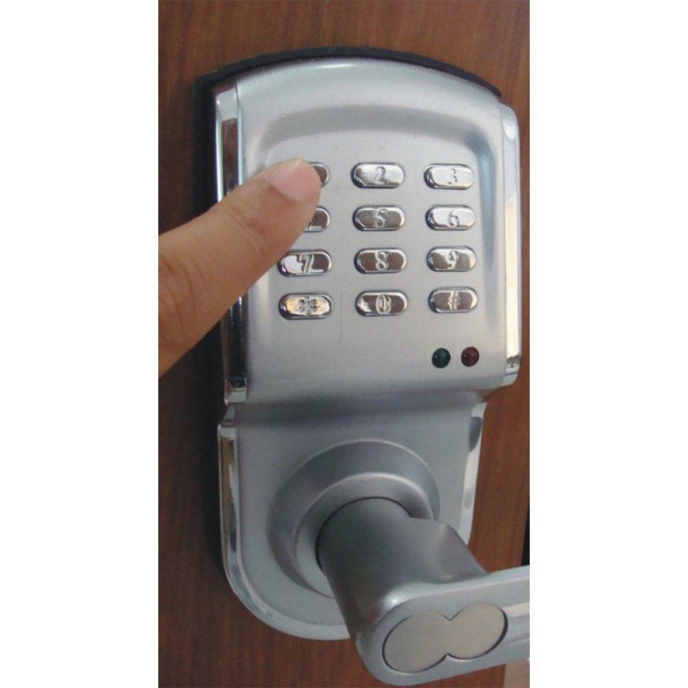Serrure a code droite argent BT88 BT Security