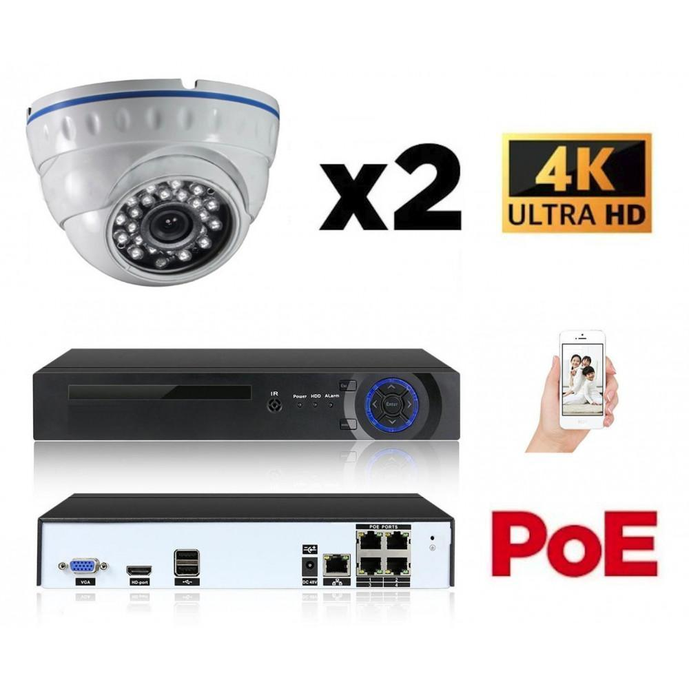 Kit vidéo surveillance IP POE 2 caméras