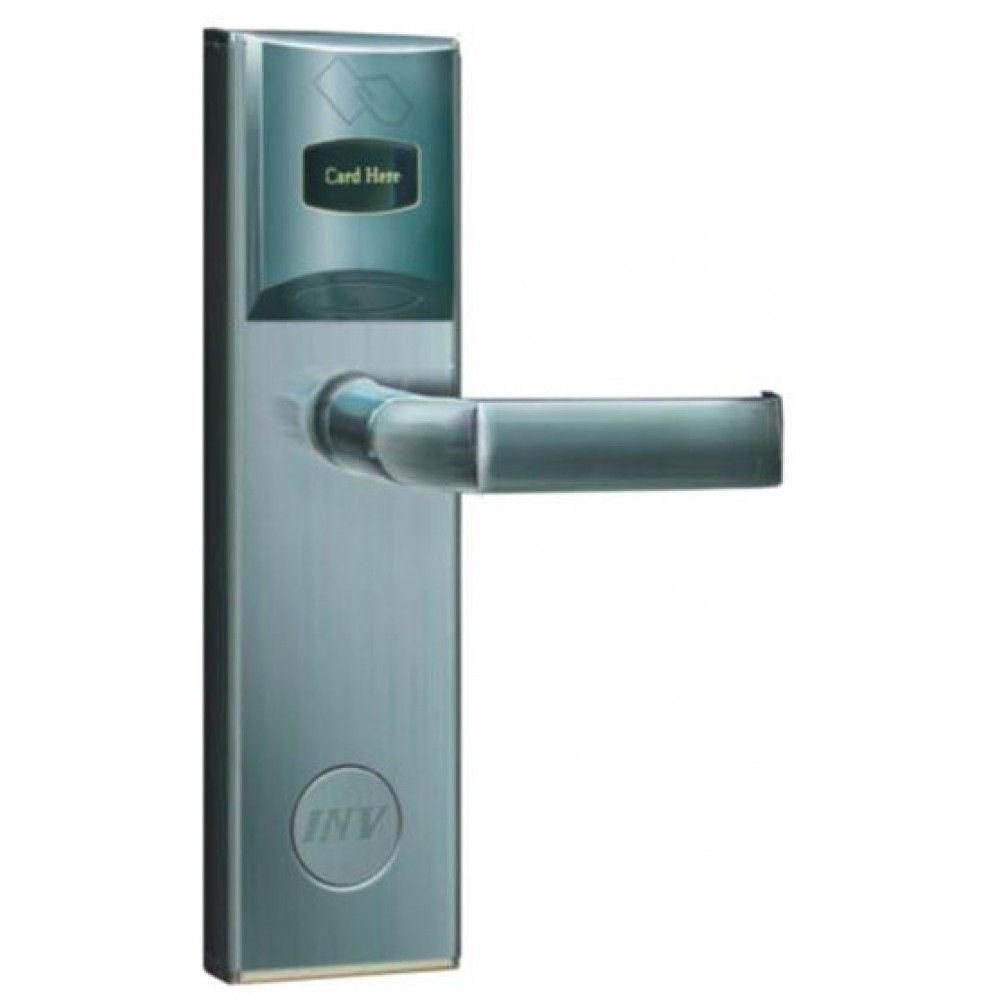 Serrure d'hotel RFID Zeno 2001 argent droite BT Security