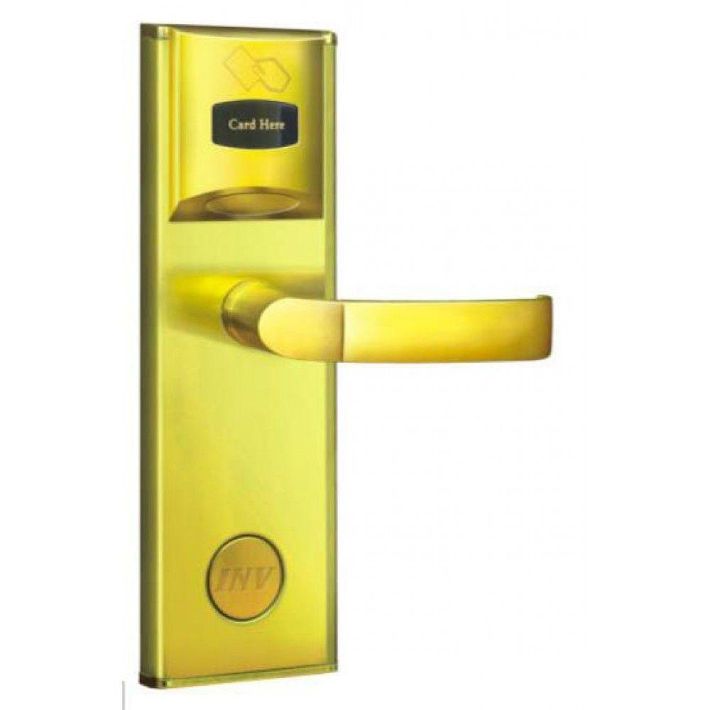 Serrure d'hotel RFID Zeno 2001 dorée droite BT Security