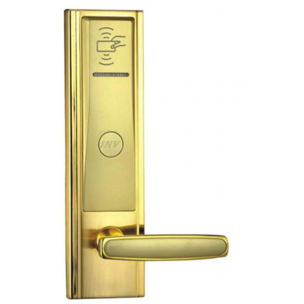 Serrure d'hotel RFID Zeno 2008A dorée droite BT Security.jpg