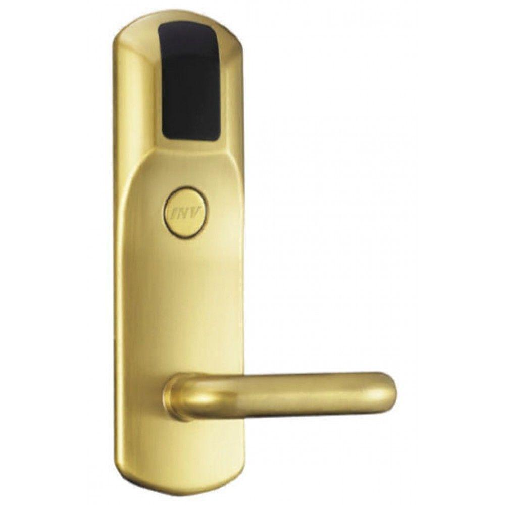 Serrure d'hotel RFID Zeno 900 dorée droite BT Security.jpg