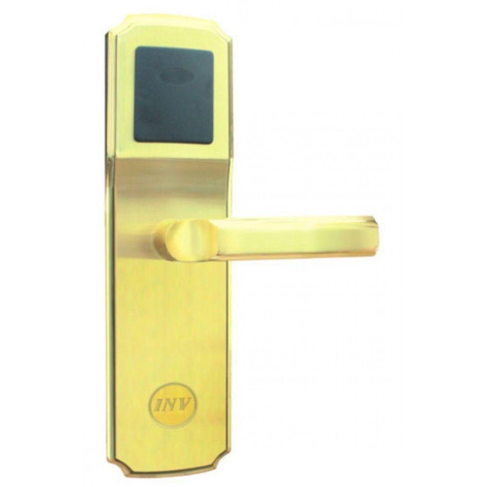 Serrure d'hotel RFID Zeno 900T1 dorée droite BT Security.jpg