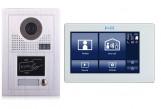 """Portier interphone Modern 2 fils 1 appartement  / 1 écran 7"""" SMART + lecteur de carte"""