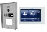 """Portier interphone Modern en applique 2 fils 1 appartement  / 1 écran 7"""" SMART + lecteur de carte"""