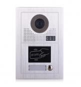 Platine de rue PL619-1D pour 1 appartement 2 fils gamme PL avec lecteur de badge RFID