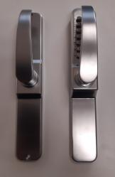 Serrure à code mécanique BT07- plaque sans perçage - Argent