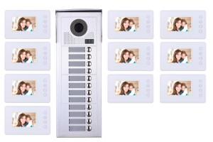Interphone vidéo 10 appartements + 10 écrans