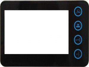 """Station intérieure 5"""" coloris noir 2 fils"""