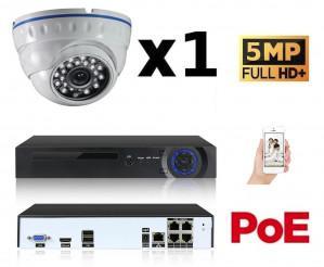 Kit vidéo surveillance IP POE 1 caméra