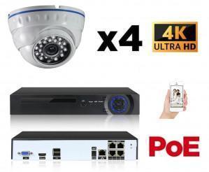 Kit vidéo surveillance 4 caméras 8Mp IP POE