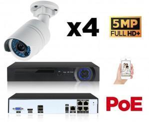 Kit vidéo surveillance IP POE 6 caméras