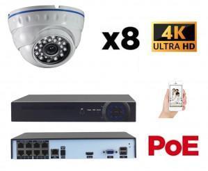 Kit vidéo surveillance IP POE 8 caméras