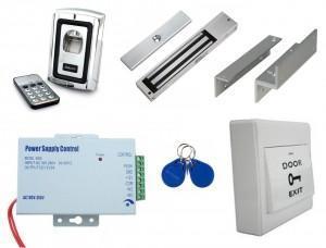 Kit de contrôle d'accès autonome empreinte digitale et badge - antivandalisme