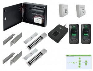Contrôle d'accès biométrique centralisé - 2 portes
