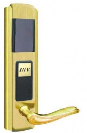 Serrure d'hotel RFID Zeno 861 dorée droite BT Security.jpg