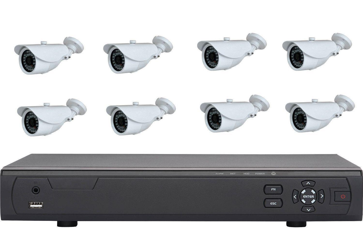 kit vid o surveillance 8 cam ras ext rieur enregistreur. Black Bedroom Furniture Sets. Home Design Ideas
