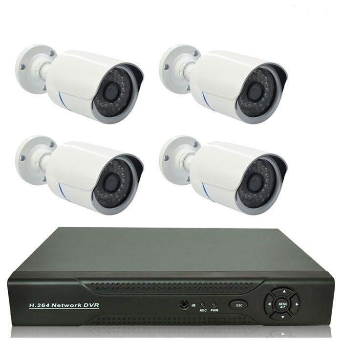 kit vid o surveillance 4 cam ras ext rieur enregistreur dvr bt security. Black Bedroom Furniture Sets. Home Design Ideas