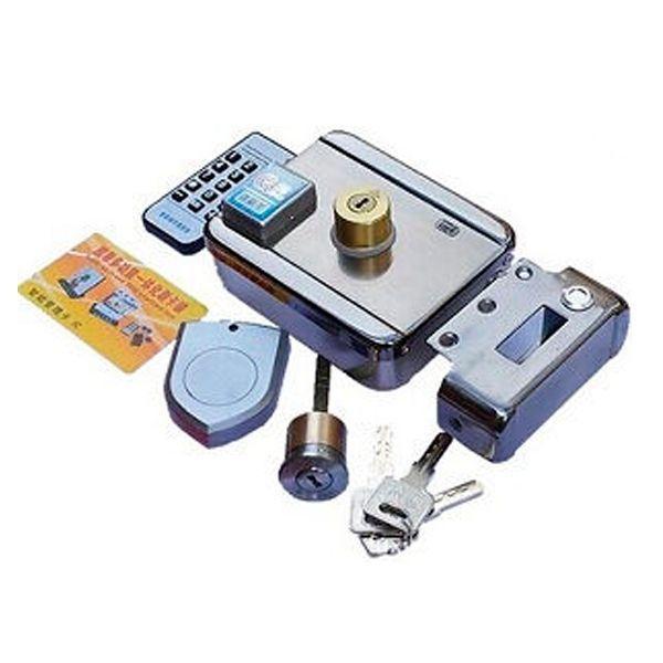 Serrure lectrique motoris e 12v avec lecteur de badge for Gache electrique exterieur