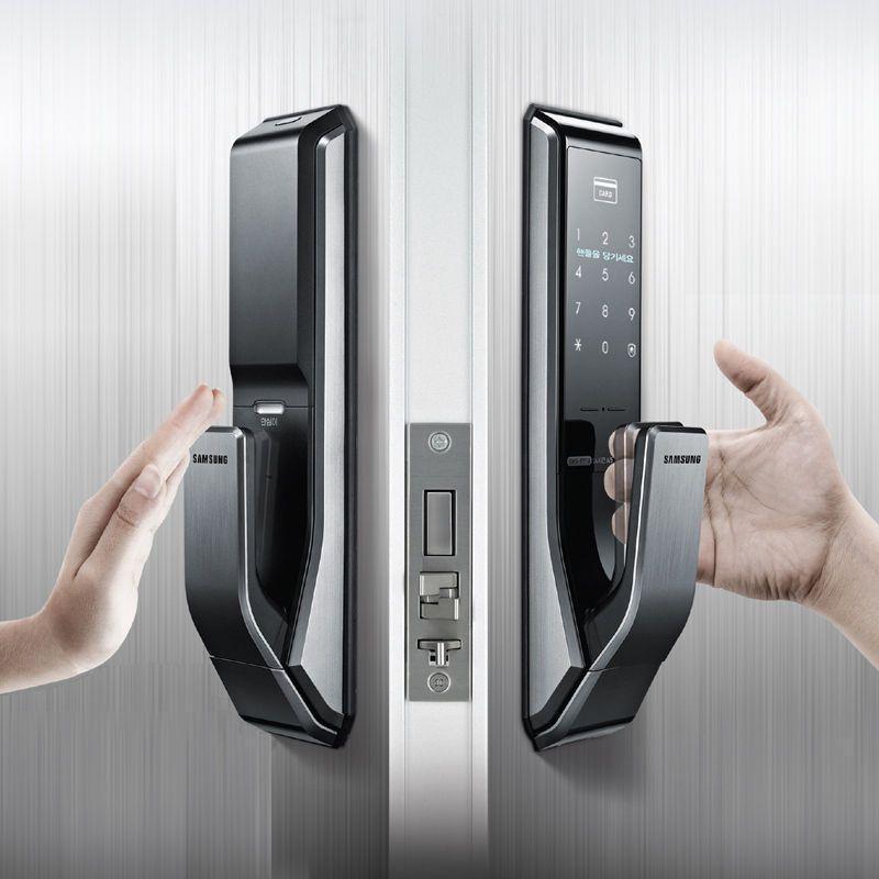 serrure badge et code samsung push shs p710 bt security. Black Bedroom Furniture Sets. Home Design Ideas