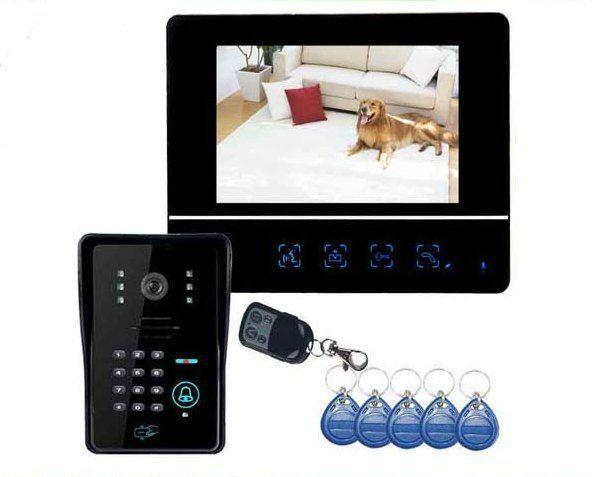 interphone vid o multi code rfid t l commande bt security. Black Bedroom Furniture Sets. Home Design Ideas