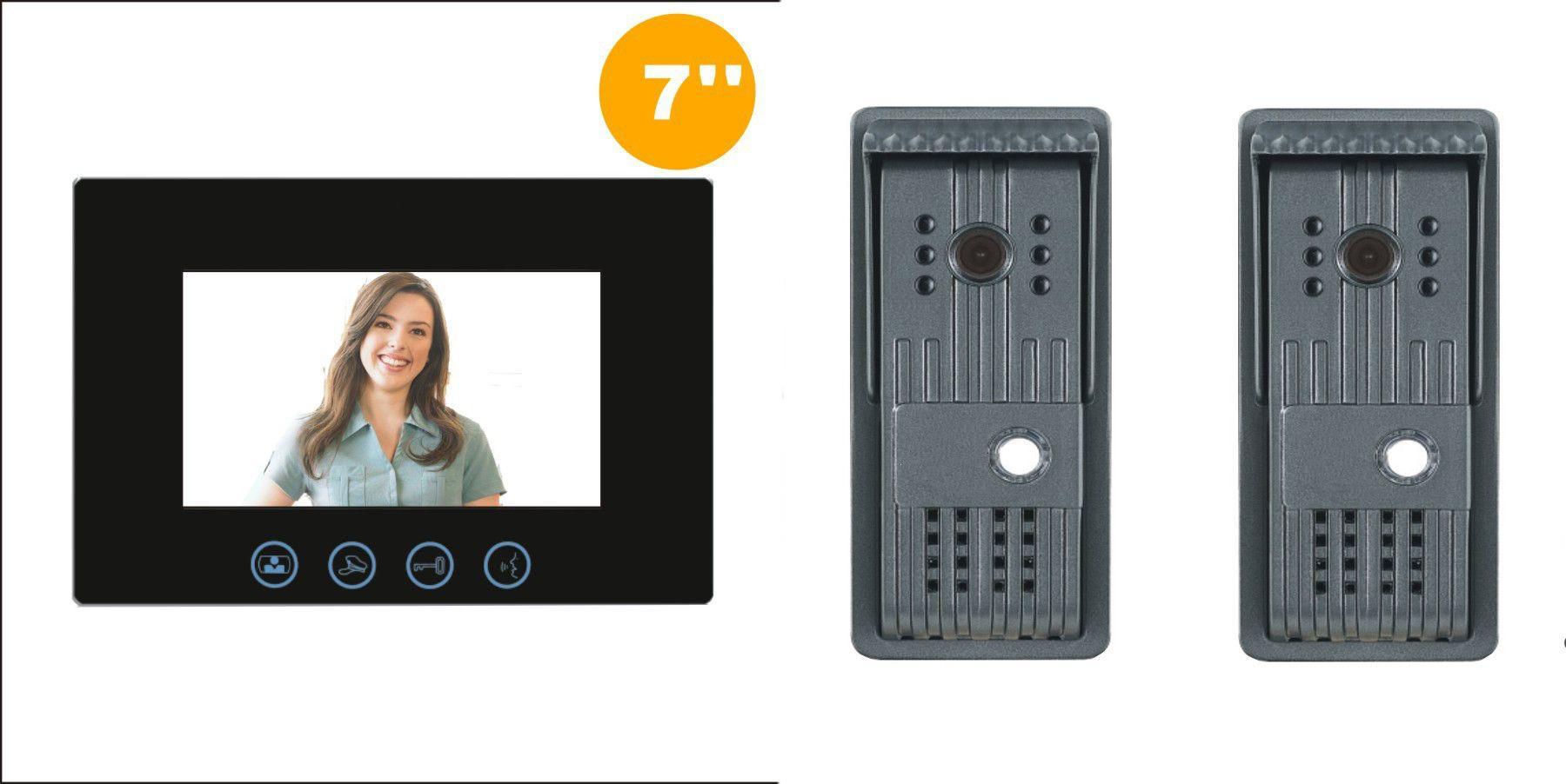 Interphone vidéo PILI avec 2 platines de rue - BT Security